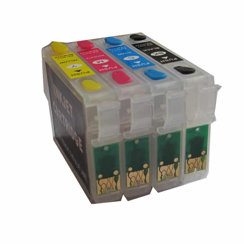 71 T0711 Isi Ulang Tinta untuk Epson Stylus D78 D92 D120 DX4000 DX4050 DX4400 DX4450 DX5000 DX5050 DX6000 DX6050 DX7000F