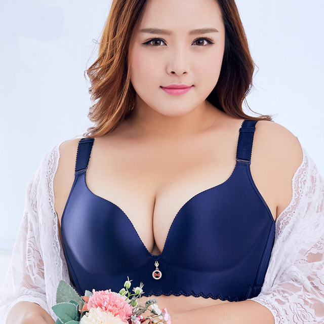50E 50D 48E 48D 46E 46D 44E 44D Bra Big Size Sexy Seamless Wire Free Plus Size Lingerie for Women Luxury Push Up Brassiere Bras