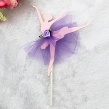 Ragazza di balletto Della Torta Candela Cake Topper Wedding Party Torta Del Fumetto Topper Picker Per I Bambini Happy Festa di Compleanno suppiles(China)