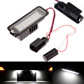 2X18 LED Car Styling Auto del Canbus Luz de la Matrícula Bulbos de lámpara Para VW EOS Passat Polo Skoda Superb Altea Golf 5/6/4