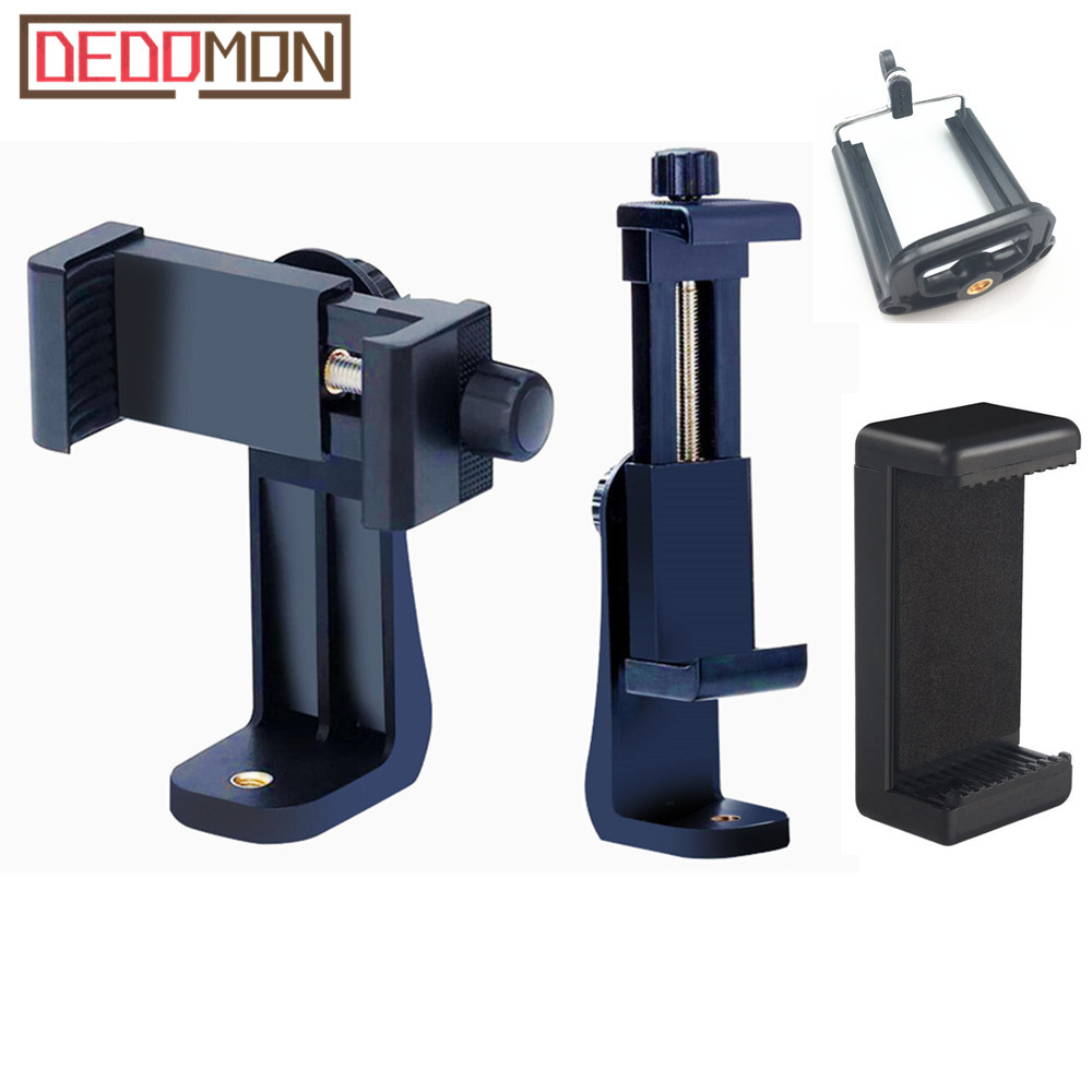 Universal Tripod Mount Adapter Cell Phone Clipper Holder Vertical 360 Rotation Tripod Stand For IPhone X 7 Plus Samsung Tripode(China)