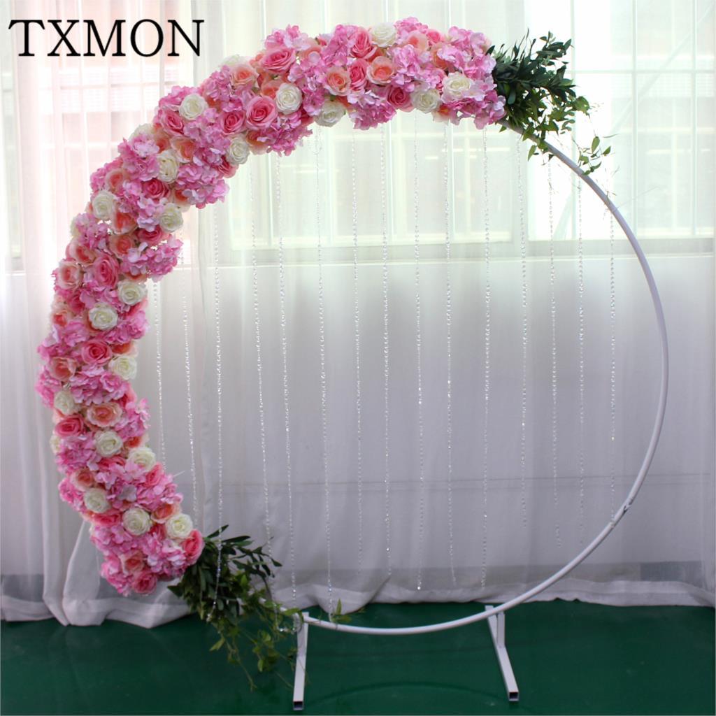 2m custom bruiloft bloem rij thuis decoratie simulatie nep bloemen venster decoratie boog weg gids kunstzijde bloem-in Kunstmatige & Gedroogde Bloemen van Huis & Tuin op  Groep 1