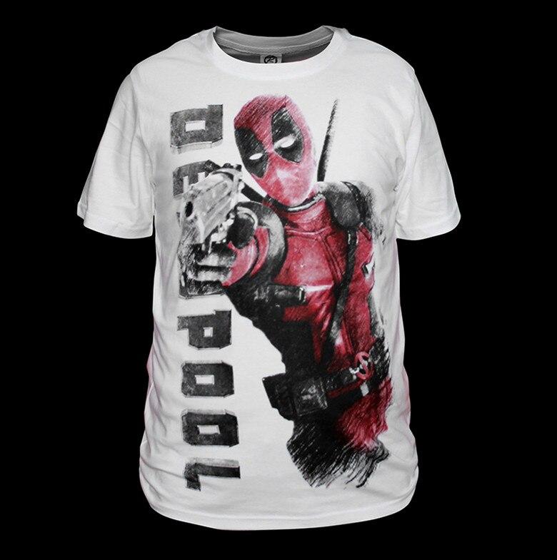 Бесплатная доставка Новое поступление 100% хлопок высокое качество Дэдпул футболки Мужская футболка Новое поступление черные футболки с дед