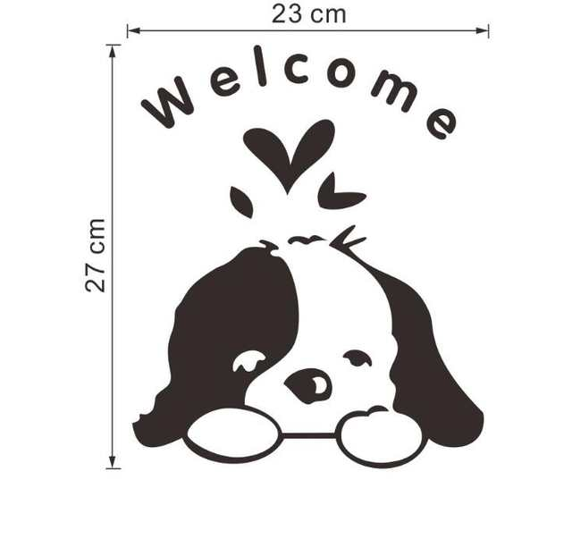 Diy Funny Cute Black Dog Switch Decal Wallpaper Wall Stickers Home Decoration Bedroom Kids Room Light Parlor Decor Sticker Wall Stickers Aliexpress