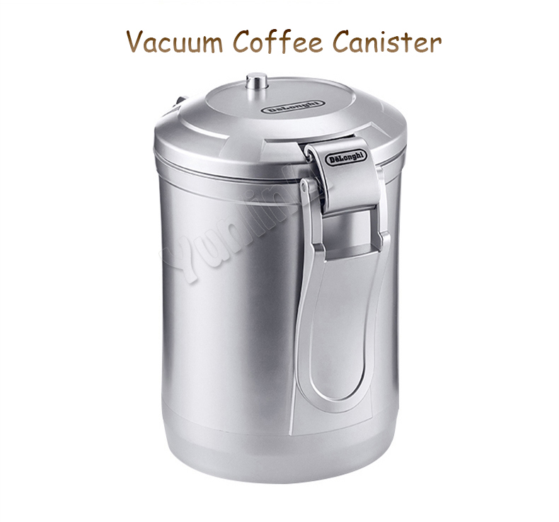 Coffee Beans Ground Coffee Canister Vacuum Coffee Bean Canister Coffee Beans Storage Canister 1.6L Capacity Sealing Canister KFD 454g bag commercial coffee beans powder green slimming coffee beans tea