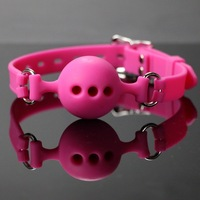 1 PC High Quality 100% Medical Silicone Mouth Ball Gag Mouth Stuffed Adult Games For Couple Sex Product Toys Fetish Bondage 2016