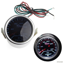 1 set 52mm Car Universal Smoke Lens LED Pointer Oil Temp Temperature Gauge Meter Truck Parts Gauges G6KC