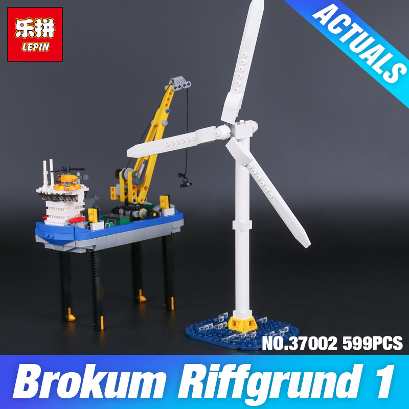 Lepin 37002 599Pcs Genuine Creative Series The Borkum Riffgrund Set Building Blocks Bricks Educational Toys Model Gifts 4002015 ynynoo lepin 02043 stucke city series airport terminal modell bausteine set ziegel spielzeug fur kinder geschenk junge spielzeug