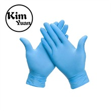 KIM YUAN Disposable Gloves  Medical Examination Nitrile Gloves Food Grade Imported Ding Qing Gloves(10 PAIR) цена