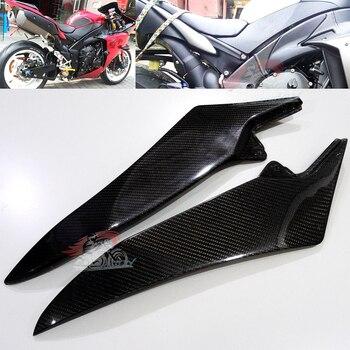 Carbon Fiber Gas Tank Side Trim Cover Panel Fairing Carbon Fiber For Yamaha R1 YZF 2009-2014 10 11 12 13