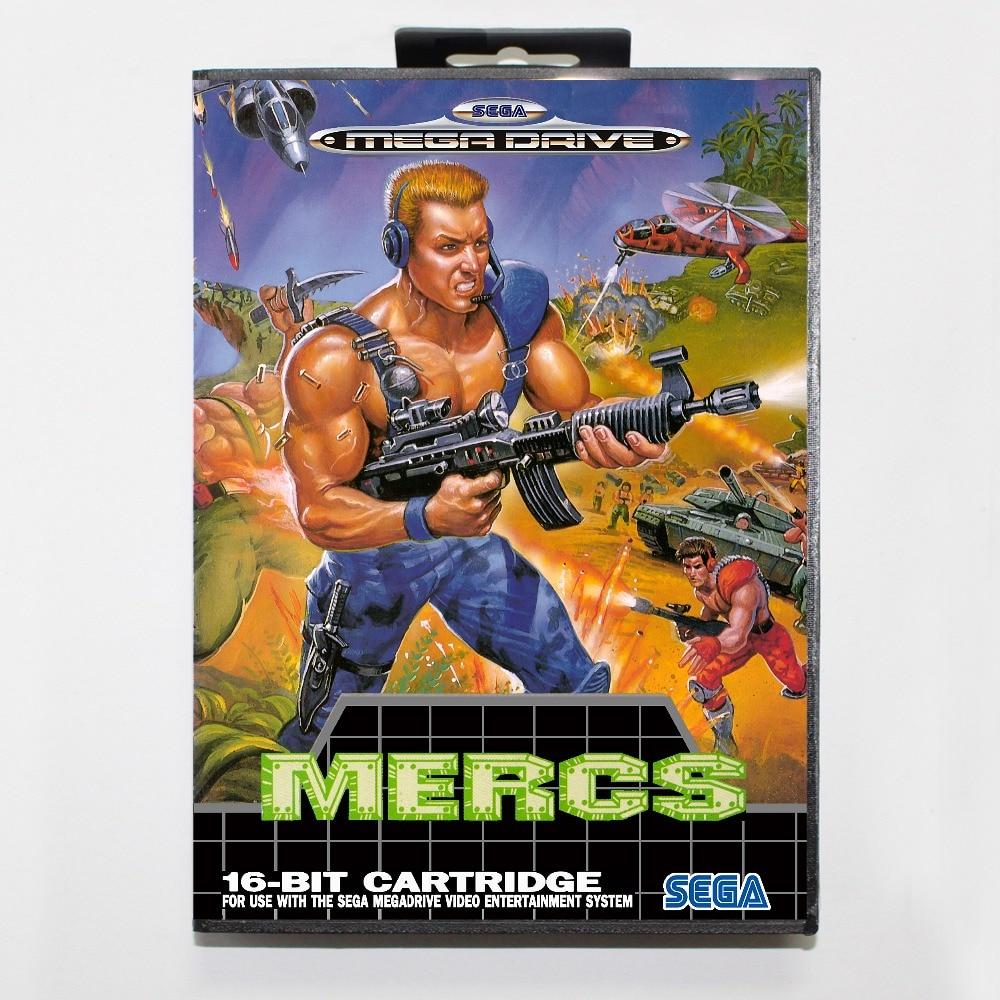 Mercs 16 bit SEGA MD Game Card With Retail Box For Sega Mega Drive For Genesis