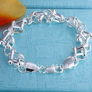 Strand Bead Bracelets Silver Plated Bracelet For Women Men Unisex Jewelry Hand Chain H075 Wholesale Pulseras Jewelry & Accessories Chain & Link Bracelets