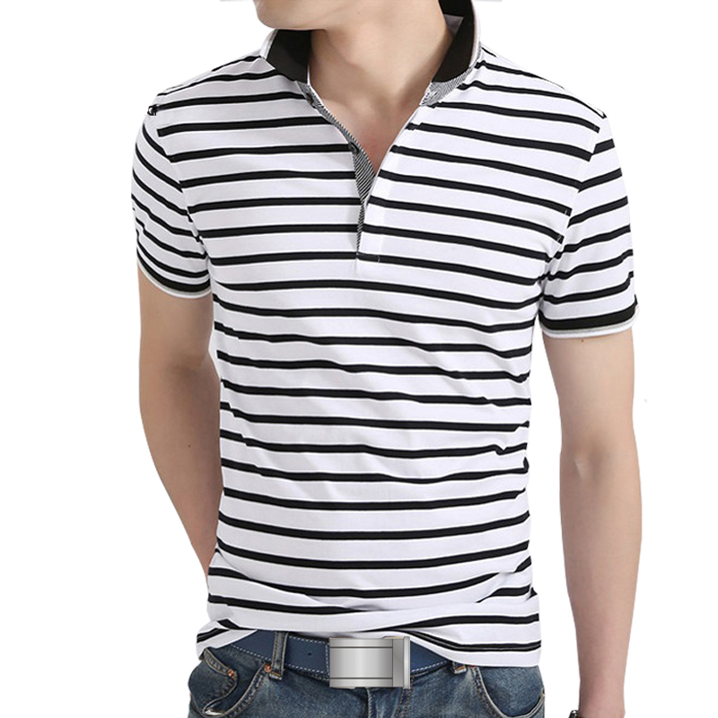 High quality summer mens polo stripe shirt brands cotton for Best quality polo shirts for men
