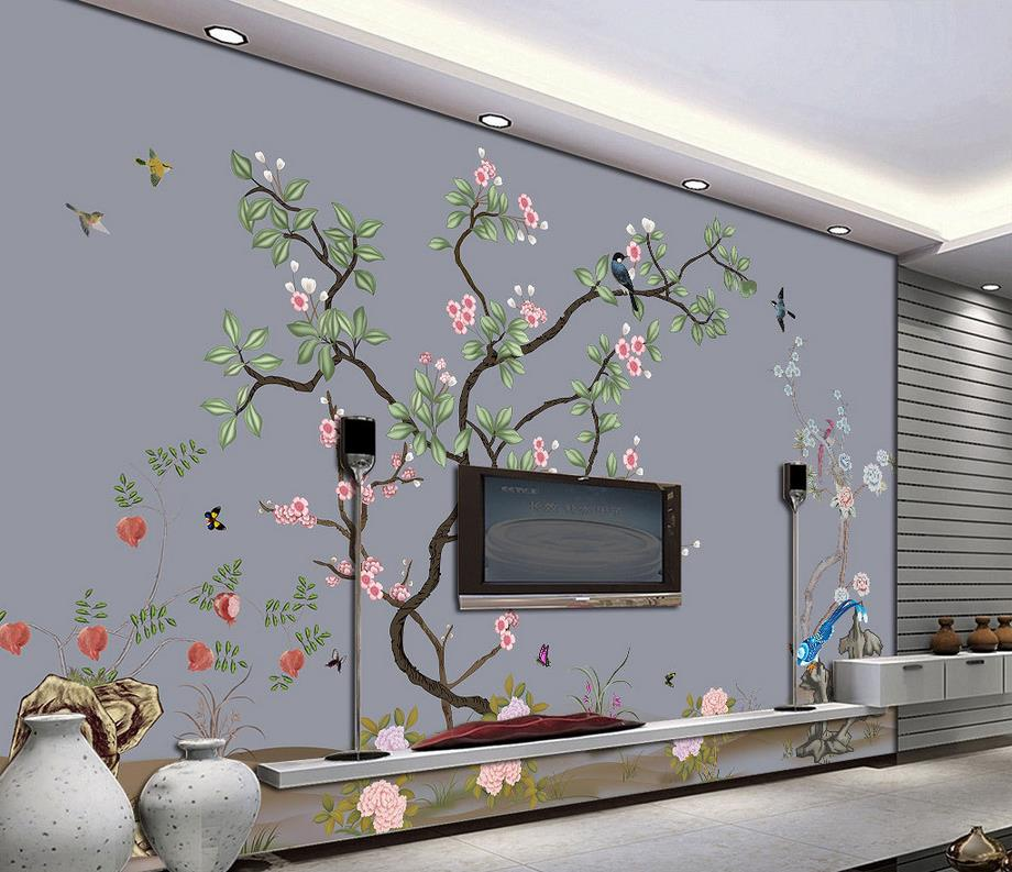 3d murals wallpaper for living room Fine flowers and birds window mural wallpaper Home Decoration book knowledge power channel creative 3d large mural wallpaper 3d bedroom living room tv backdrop painting wallpaper