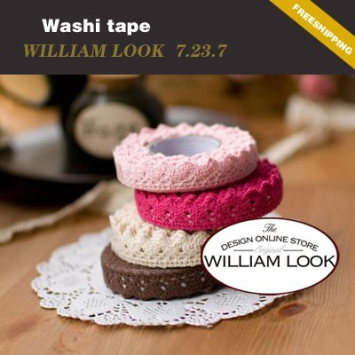 Free shipping Stationary cute colorful washi masking tape printing tape hot market lovely school promotion MMA07237