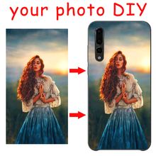 DK Customized DIY Printed Photo New Phone Black Sotf TPU Cover Case for Huawei P30 P20 P10 P8 P9 lite series painting PC