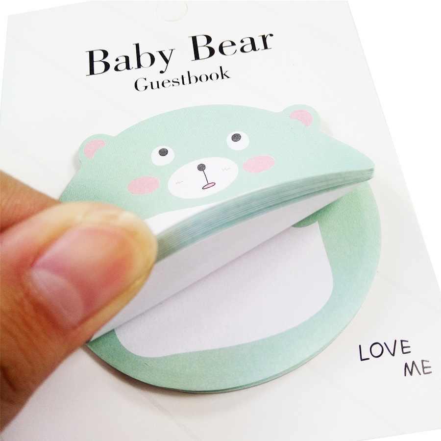 1 unids/lote de bebé de dibujos animados oso Memo Pad notas adhesivas de papel etiqueta engomada del planificador de Kawaii papelería Papeleria Oficina escuela suministros