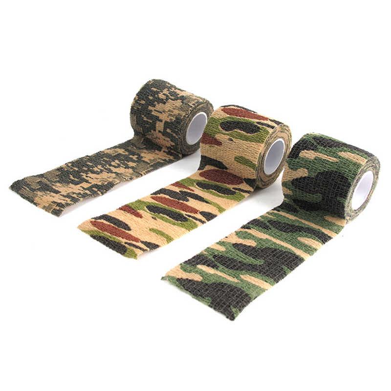 5 センチメートル x 4.5 メートル狩猟テープ陸軍迷彩屋外撮影ブラインドラップ迷彩ステルステープ防水カメラレンズラップアクセサリー