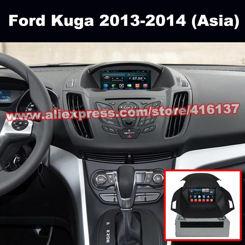 2 din gps navigation android quad core system for ford kuga escape 2013 2014 asia central. Black Bedroom Furniture Sets. Home Design Ideas