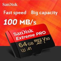SanDisk Extreme Pro MicroSDHC MicroSDXC UHS I Memory Card MicroSD Card TF Card 95MB S 64GB