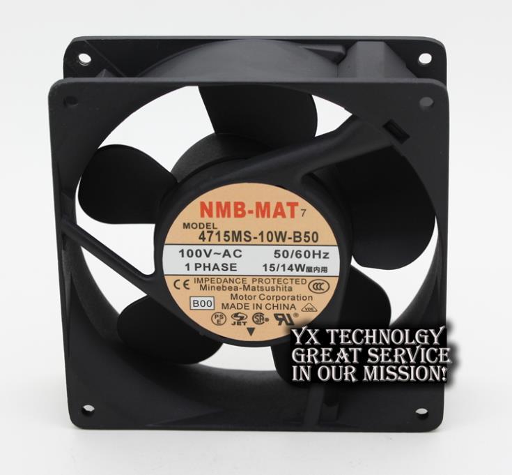 New and Original 4715MS-10W-B50 12038 12v 15w/14w 12cm aluminum frame industrial fan for NMB 120 * 120 * 38 mm  цены