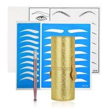 Permanent Makeup Kit Tattoo Manual Pen Microblading Needles Eyebrow Practice Skin Set Beginners Storage Case