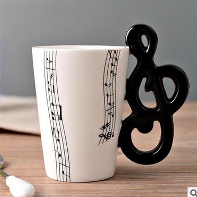 Music Themed Ceramic Tea Cups