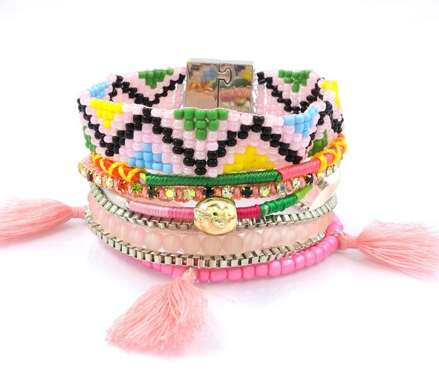 2016 ipanema brazilian bracelets colorful Bohemian bracelets Multi wrap Ipanema pulsera friendship boho Bracelet woman