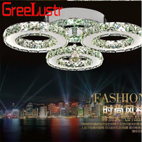 Modern Crystal Rings Ceiling Chandelier Lights Chrome 30W Crystal Led Plafonnier for Bedroom Kitchen Ceiling Lamp Lustre