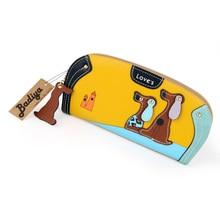 Cute Puppy design Long Wallet for Women Female Change Purses Leather Cute Purses 6 Colors
