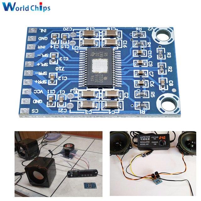 XH M562 TPA3116D2 50W + 50W Dual Channel MINI เครื่องขยายเสียงดิจิตอล Class D เครื่องขยายเสียง 50W Power Amplifier BOARD DC 12 V 24 V 2x50W