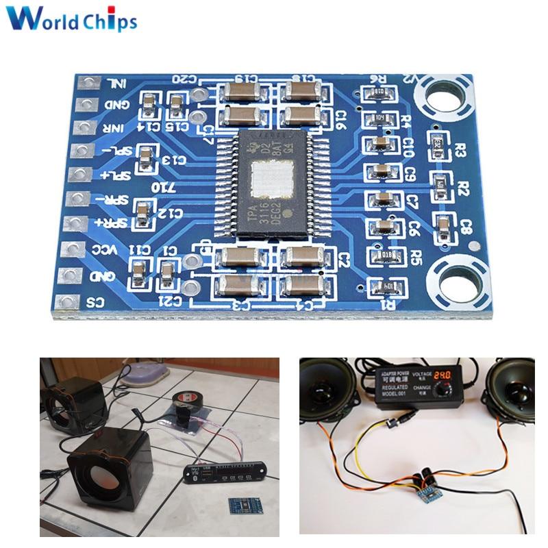 1PCS TPA3116D2 Digital Amplifier Board 2X50W Class D 12V 24V Dual Channel Stereo