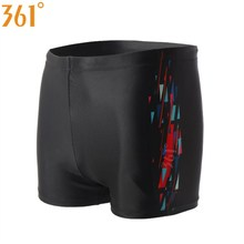 361 Men Swimming Trunks Boxer Black Swim Shorts 2019 Boy Wear Plus Size Male Briefs Sports Quick Dry