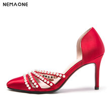 NEMAONE 2019 new Women wedding Shoes high Heels summer Woman Pumps Ladies Office Shoes Pointed Toe large size 43
