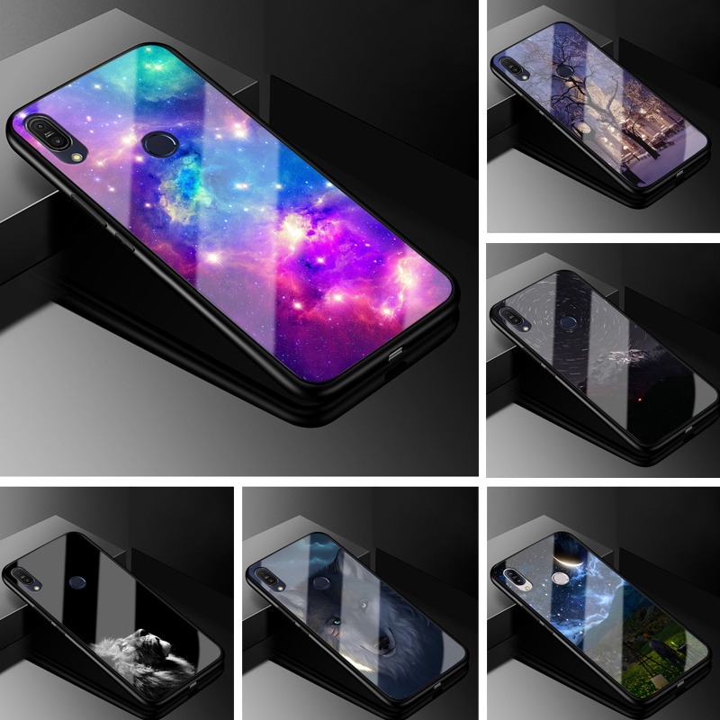 For <font><b>ASUS</b></font> Zenfone Max Pro M1 ZB602KL Case Glass Hard Phone Case For <font><b>ASUS</b></font> Zenfone Max Pro M1 <font><b>ZB601KL</b></font> Case Tempered Cover X00TD image