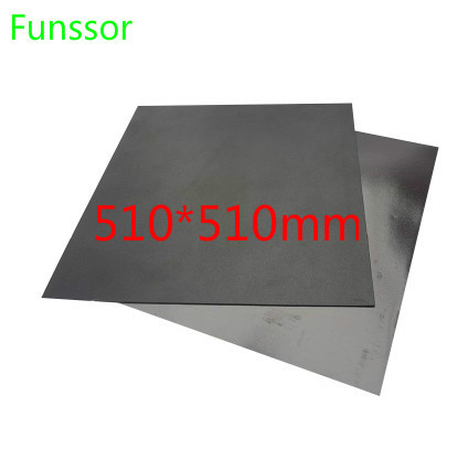 510x510mm magnétique adhésif impression lit bande impression autocollant Surface Flex plaque pour la créalité CR-10 série CR-10 5 S 3D imprimante