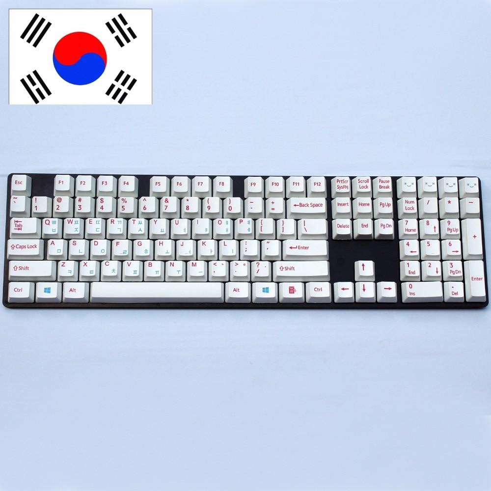 108/104 key PBT keycap for OEM Profile Cherry MX switches Korean-version Mechanical Gaming keyboard Dye-sublimated Keycaps pbt keycap oem height poker 2 mechanical keyboard cherry mx switch keycaps kbt poker ii keycap multicolor keycap
