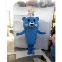 Cosplaydiy New Arrival Popular Lovely Cute Blue Bear Plush Mascot Costume for Christmas L0713