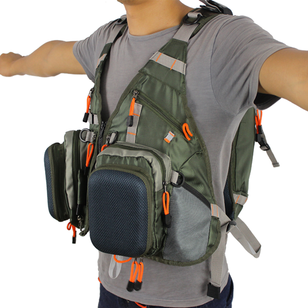 New Fly Fishing Men Vest Fishing hunting Backpack Outdoor sports Mesh Backpack Bag with 2L Hydration Water Pack Bladder in Fishing Vests from Sports Entertainment