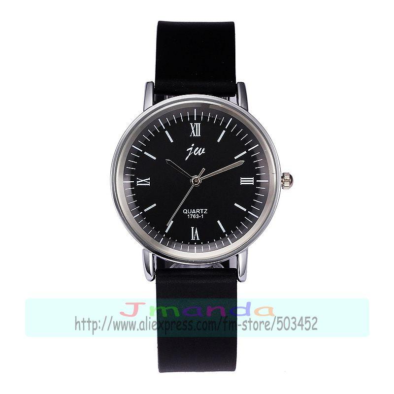 Permalink to 100pcs/lot jw-1763-1 fashion black belt silicone couple watch black white dial quartz casual wrist watch wholesale lover's watch