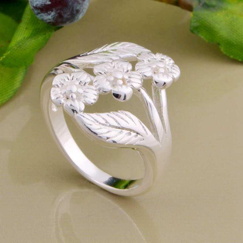 Резной лист высокого качества оптом 925 ювелирные изделия посеребренные кольца, модное Ювелирное кольцо для женщин,/XHUDIJPI ZEMMEHXL