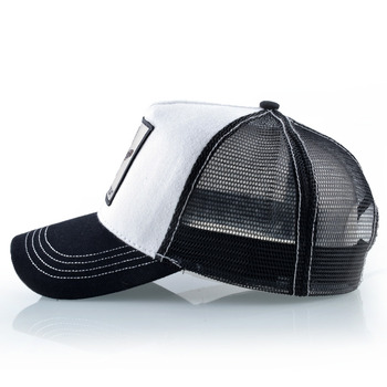 Fashion Baseball Cap Men Women Snapback Hip Hop Bone Bill Goat Embroidery Streetwear Trucker Hats Breathable Mesh Black Hat 2