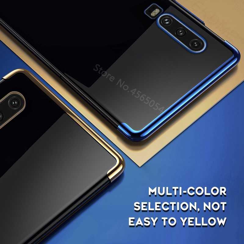P30 untuk Huawei P30 Lite P20 P10 Plus Cover untuk Huawei P Smart Plus P30 Lite Nova 4E 3E 3i Funda Kamera Lembut Melindungi Tritone