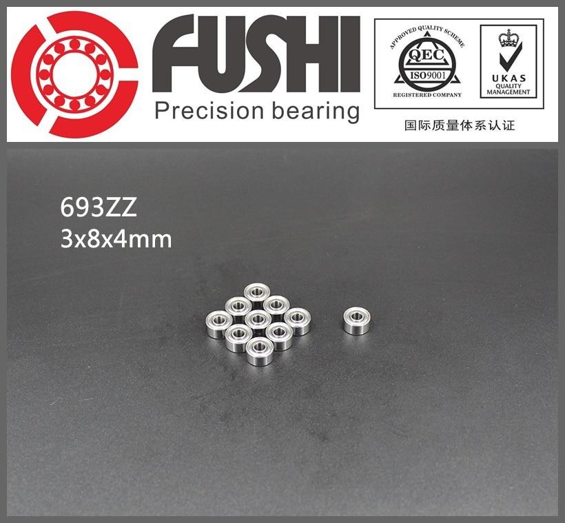 693ZZ ABEC-7 (100PCS)  3x8x4mm Miniature Ball Bearings 619/3ZZ  EMQ Z3V3 gcr15 6326 zz or 6326 2rs 130x280x58mm high precision deep groove ball bearings abec 1 p0