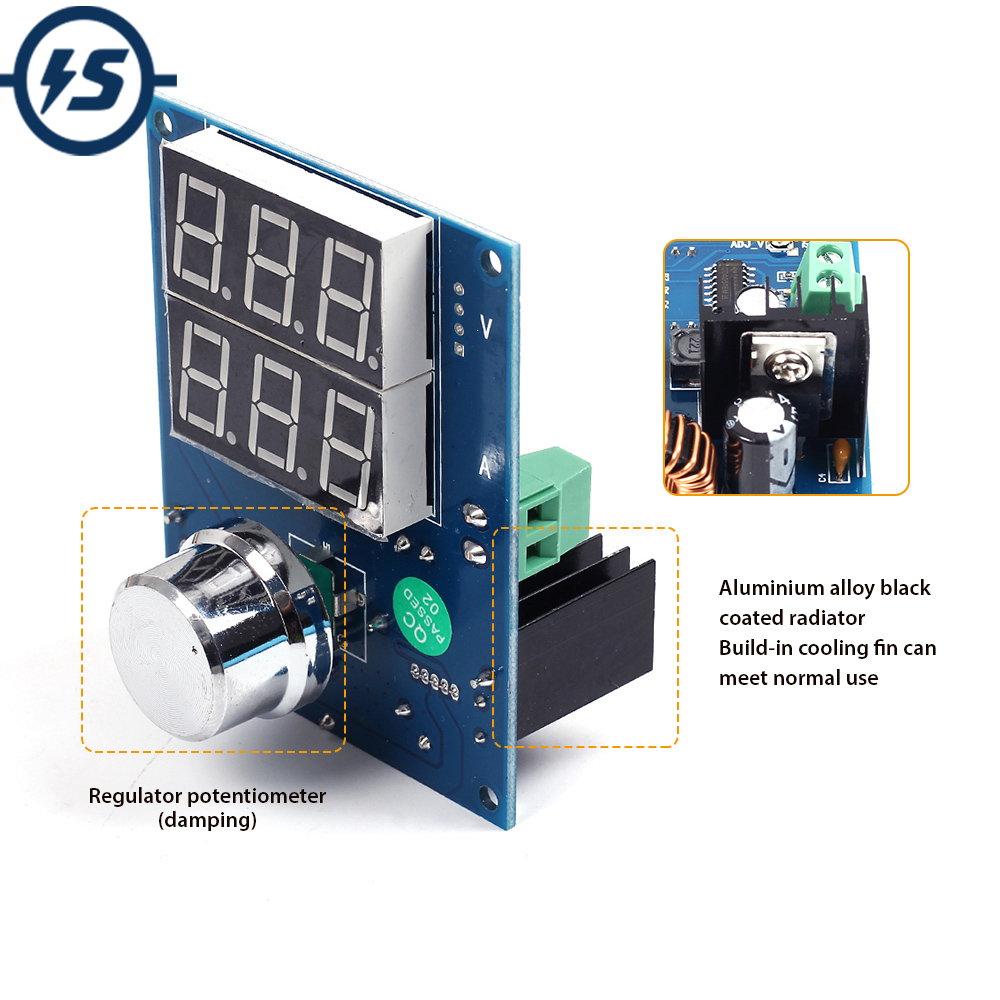 XH-M403 DC-DC Digital Voltage Regulator Buck Step Down Power Supply Module 5-36V To 1.3-32V Over Temperature Protection