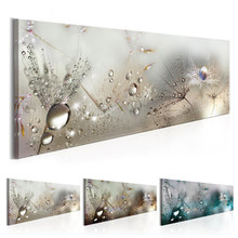 Water Drops Wall Art Dandelions Prints and Posters Abstract Canvas Painting Nursery Pictures for Living Room Bedroom Home Decor