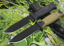 Utility Fixed Blade Knife 5Cr13Mov Steel Rubber Handle Outdoor Tactical Straight Knives Camping Hunting Rescue Knife EDC Tools