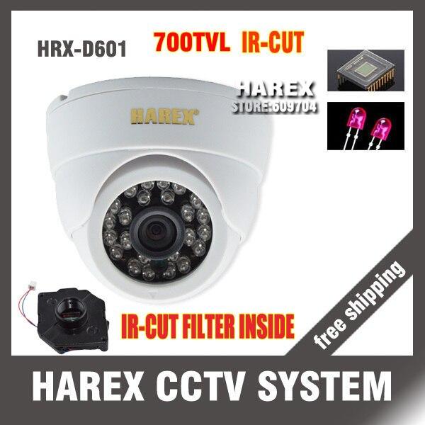 700TVL CMOS 24leds ir15m с ИК-фильтр Крытый Купол CCTV Камера. Бесплатная доставка!