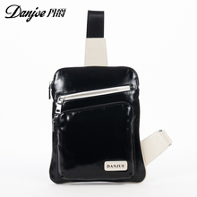 DANJUE Fashion genuine Leather men chest bags fashion casual travel Bags for male Back Pack small messenger daypack