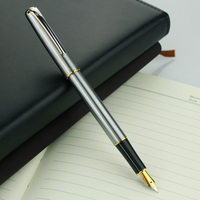 1pc Lot Luxury Hero 704 Full Steel Fountain Pen 0 5mm Iraurita Ink Pens For Student